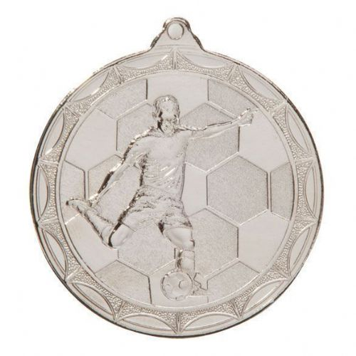 Impulse Football Medal Silver 50mm